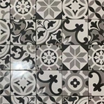Patterned tiles going into a downstairs toilet room, #tiles #tiling #kitchens #hallway #ihavethisthingwithfloors #swlondecobuild #reclaim #pattern #surfacepattern #tiler #interiordesigner #tilestyle #housetour #homerenovation #interiorlovers #smallspacesquad #topstylefiles #interiordesire #interiorforinspo #homedecorideas #eclecticdecor #pattern #print #decoration #interiors #interiordecoration #design #londondeco #interiordesign #handmade #patternedtiles